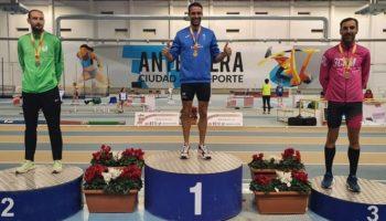Juan Antonio Gil consigue dos Medallas de Plata en el Campeonato de España de Pista Cubierta