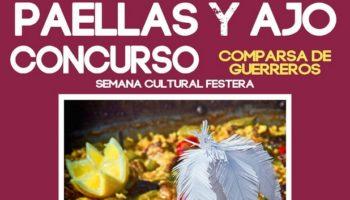 El domingo 15 de marzo se celebrarán los Concursos de Paellas y de Ajo que organiza la Comparsa de Guerreros