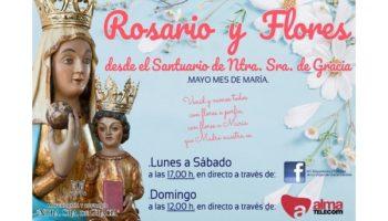 La Mayordomía de la Virgen de Gracia ha organizado varios actos televisados desde el Santuario de la Patrona de Caudete