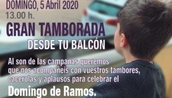 Comienza la Semana Santa en Caudete: Domingo de Ramos y Tamborada desde los balcones