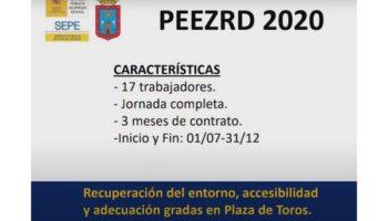 Los trabajadores contratados mediante el plan de empleo PEEZRD realizarán trabajos de mejora en la plaza de toros