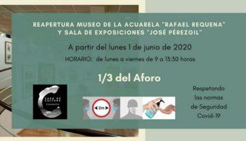 Vuelven a abrir el Museo de la Acuarela 'Rafael Requena' y la Sala de Exposiciones 'José Pérezgil'