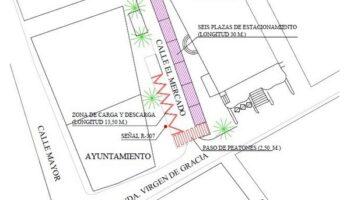Mañana permanecerá cerrada la calle El Mercado por actuaciones de mejora en su señalización