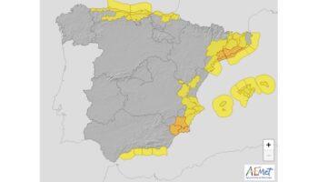 Bajada de temperaturas y chubascos para mañana en Caudete