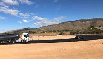 El inicio de la rotonda de la A-33 situada junto a Crisnova supondrá nuevos desvíos de tráfico
