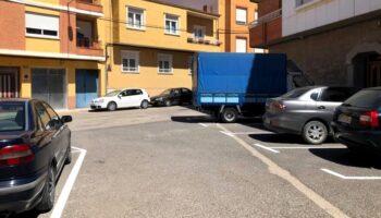 La calle Madrid y la Plaza de las Almas contarán con nueve aparcamientos tras la reforma que se está llevando a cabo