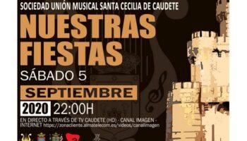 El sábado, 5 de septiembre, tendrá lugar el concierto 'Nuestras Fiestas' a cargo de la Sociedad Unión Musical 'Santa Cecilia' de Caudete