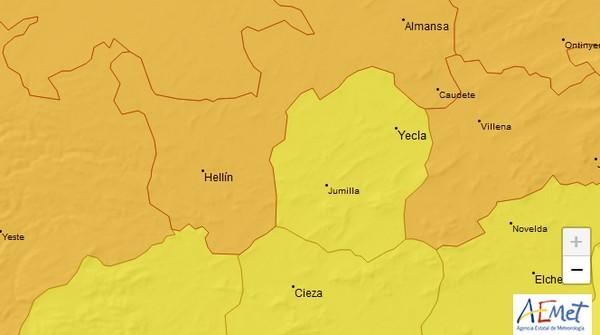 La Agencia Estatal de Meteorología alerta de lluvias y fuertes vientos para hoy en Caudete, Caudete Digital - Noticias y actualidad de Caudete (Albacete)