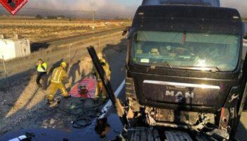 Dos accidentes en la A-31 en un intervalo de dos horas con el resultado de tres heridos