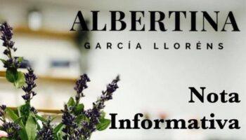Albertina García Llorens informa sobre su situación tras dar positivo en Covid-19