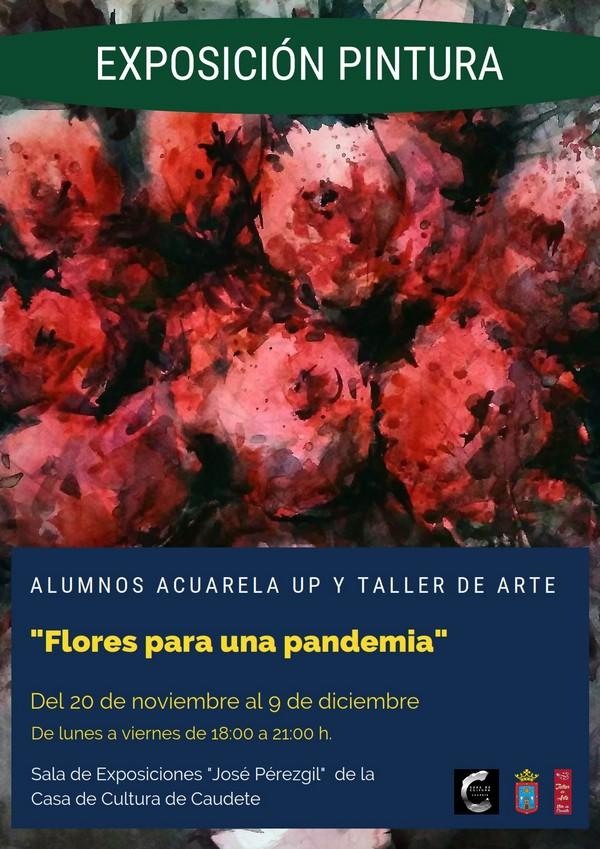 Hoy se inaugura la exposición de pintura 'Flores para una Pandemia', Caudete Digital - Noticias y actualidad de Caudete (Albacete)