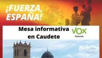 Vox organiza una Mesa Informativa para el próximo sábado en el Paseo Luis Golf de Caudete