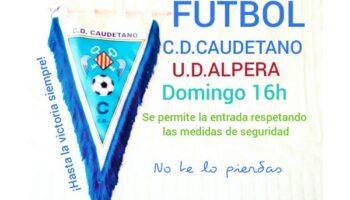 """El próximo domingo se jugará en el """"Antonio Amorós"""" el partido C.D. Caudetano - U.D. Alpera y estará permitida la presencia de público"""