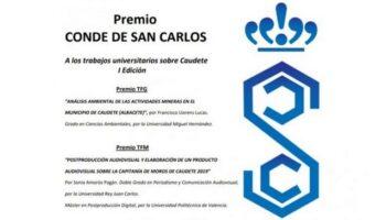 Sonia Amorós y Francisco Llorens ganan la I Edición del Premio 'Conde de San Carlos'