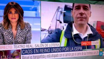 Entrevistas en Cuatro y Telecinco a transportistas de Caudete bloqueados en Inglaterra