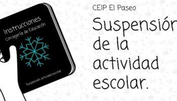 Los colegios de Caudete suspenden sus clases hasta el 11 de enero por la Alerta meteorológica