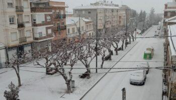 Yecla ha amanecido hoy cubierta de nieve