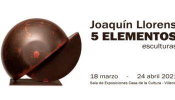 El artista de Caudete Joaquín Llorens expondrá en la Casa de Cultura de Villena hasta el 24 de abril