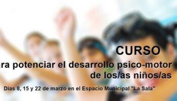 La Concejalía de Deportes va a celebrar un curso sobre estrategiasparapotenciar el desarrollo psicomotor de los niños y niñas