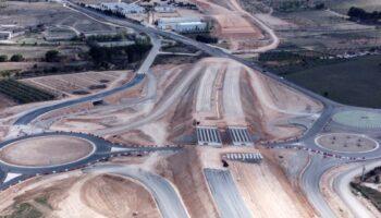 Reportaje de las obras de la autovía A-33 en Caudete a vista de pájaro