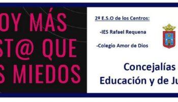 Taller 'Soy más list@ que mis miedos' dirigido a los alumnos de 2º E.S.O. de los Centros I.E.S. Pintor Rafael Requena y Colegio Amor de Dios