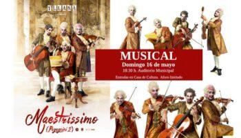 'Maestrissimo', un espectáculo a mitad de camino entre el concierto de cámara, la comedia satírica y el retrato de época