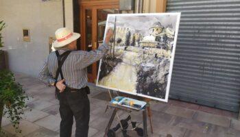 25 artistas participaron el sábado en el XI Certamen de Pintura al Aire Libre 'Villa de Caudete'