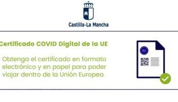Ya es posible obtener fácilmente el Certificado COVID Digital en Castilla La Mancha