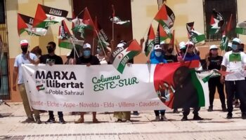 Caudete recibió el domingo la Marcha por la Libertad del Pueblo Saharaui
