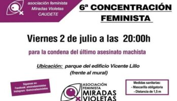 'Miradas Violetas' ha convocado para hoy su 6ª Concentración Feminista en Caudete