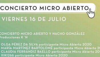 El viernes se celebrará el concierto 'Micro Abierto' con músicos locales y el cantautor albaceteño Nacho González