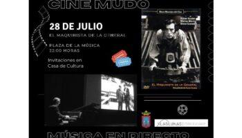 Esta noche se proyectará en la Plaza de la Música la película de cine mudo 'El maquinista de la General', con música en directo