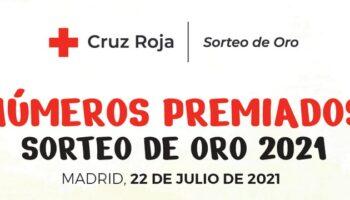Cruz Roja Caudete informa sobre los números premiados en el Sorteo del Oro 2021