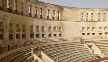 Avanzan las obras en la Plaza de Toros 'Arenas' de Caudete para que esté lista para el concierto del día 23 de julio