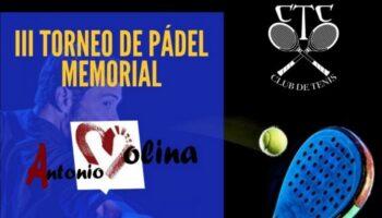 Durante este fin de semana se disputa en el Club de Tenis Caudete el III Torneo de Pádel 'Memorial Antonio Molina'