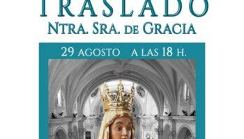 La Imagen de la Virgen de Gracia estará en Santa Catalina del 29 de agosto al 11 de septiembre