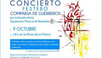 La Comparsa de Guerreros organiza un Concierto Festero en la Plaza de la Música