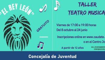 Un Taller de Teatro Musical para jóvenes permitirá poner en escena 'El Rey León'