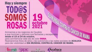ACALUCA anima a los negocios de Caudete a iluminar y decorar sus escaparates de color rosa para conmemorar el Día Mundial Contra el Cáncer de Mama